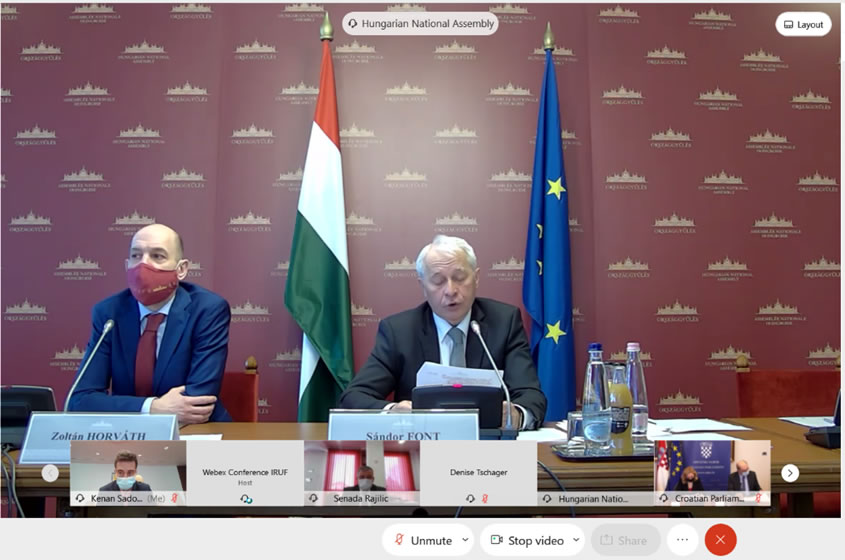 Online interparliamentary conference of parliamentary standing committees dealing with agriculture