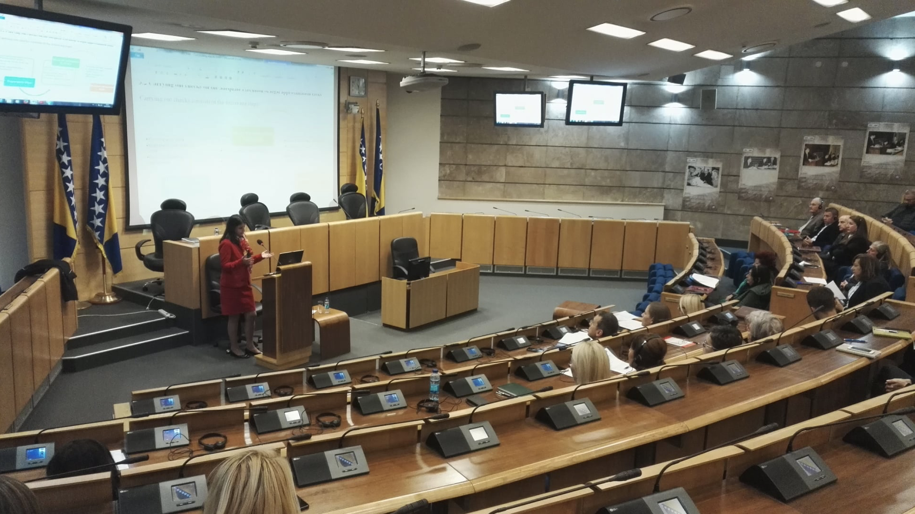 The Twinning Project facilitated coaching and on-the-job training events for all four BiH Parliaments staff